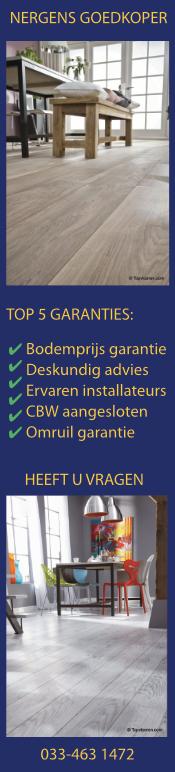 Topvloeren garanties